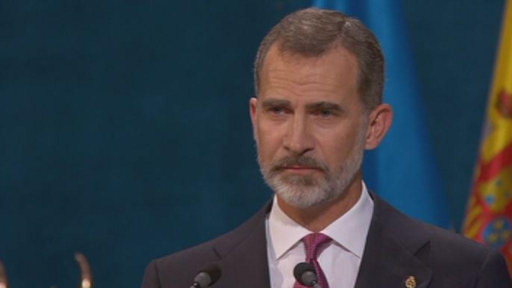 El rey apela a la Constitución como elemento de cohesión en los Premios Princesa de Asturias