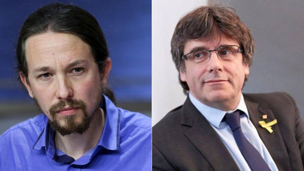 Iglesias habla por teléfono con Puigdemont, que le invita a tener una reunión presencial
