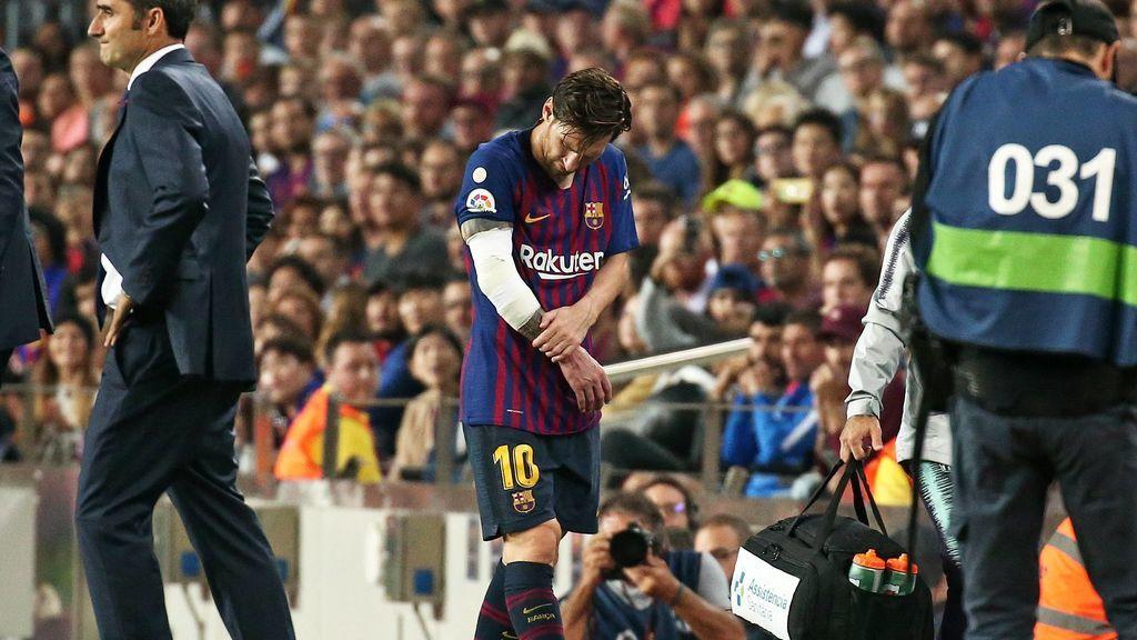 Messi se perderá seis partidos tras fracturarse el brazo derecho