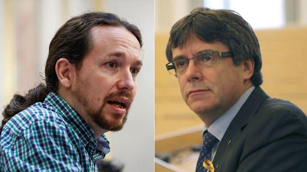 Iglesias y Puigdemont mantienen una conversación telefónica de 45 minutos