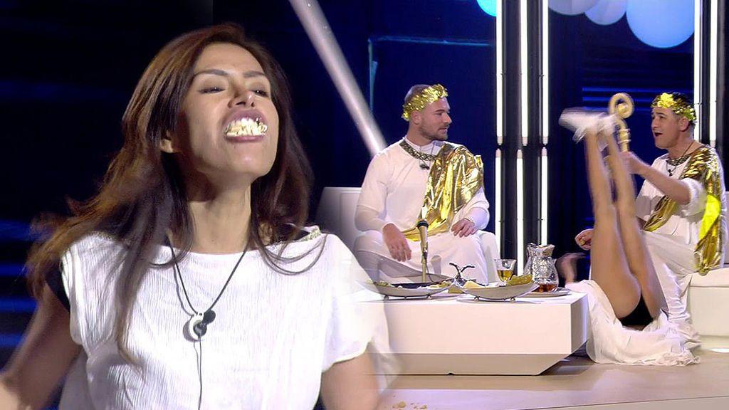 Los concursantes deben venerar a sus dioses con polvorones ¡Miriam se vuelve completamente loca!
