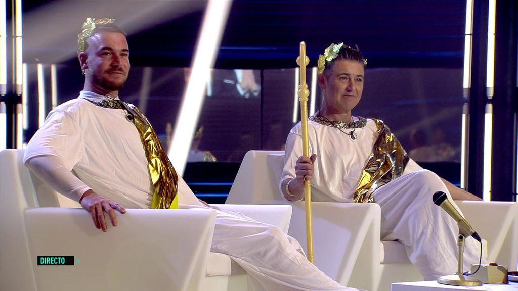 Comienza la prueba semanal con Tony y Ángel Garó como Dioses del Olimpo