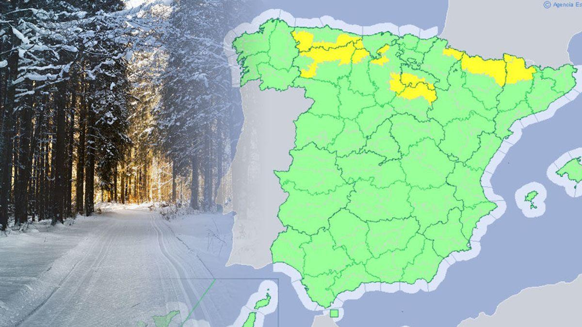 Primer aviso por nevadas de la temporada por debajo de los 1000 metros