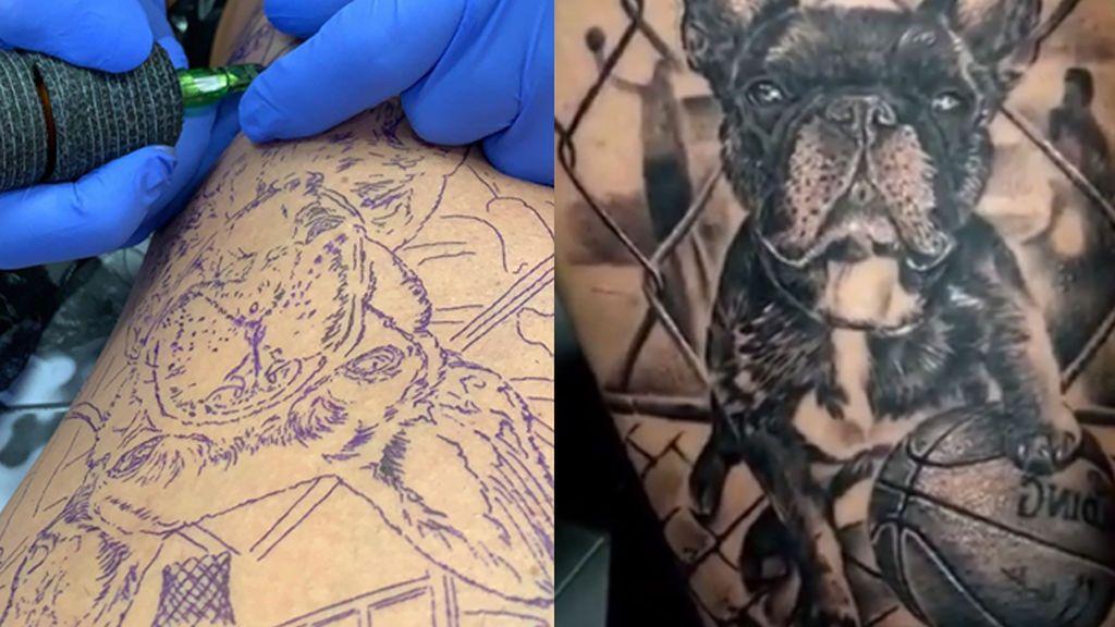 Más impresionante que el tatuaje de Neymar: un futbolista del Levante se tatúa a su perro 'en modo LeBron James'