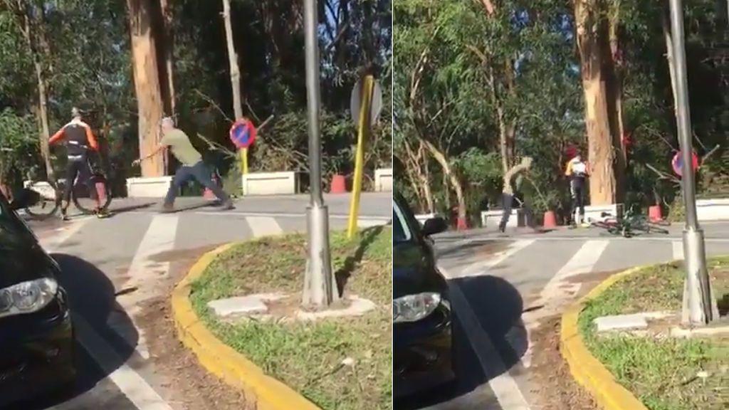 Brutal agresión de un camionero con un martillo a dos ciclistas en Pontevedra
