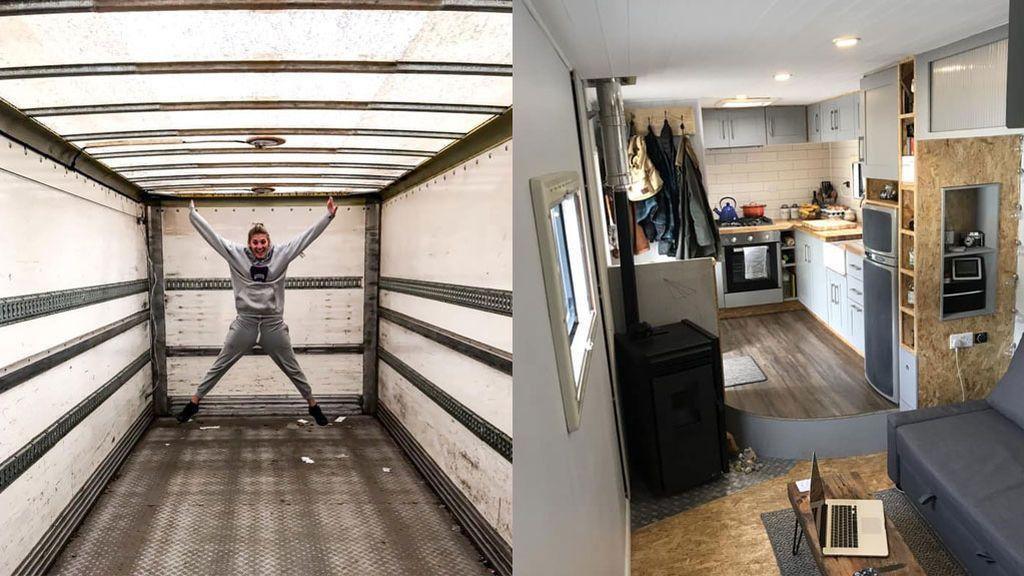 Una pareja convierte un viejo camión de basura en la autocaravana de sus sueños y ahora se dedica a recorrer Europa