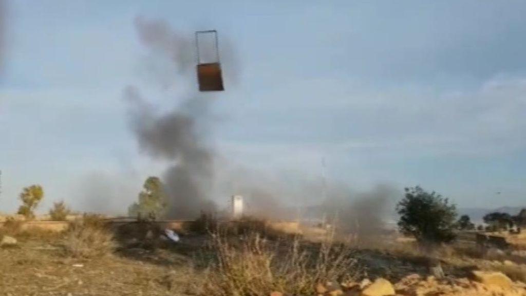 Seis detenidos por fabricar y detonar explosivos en Murcia