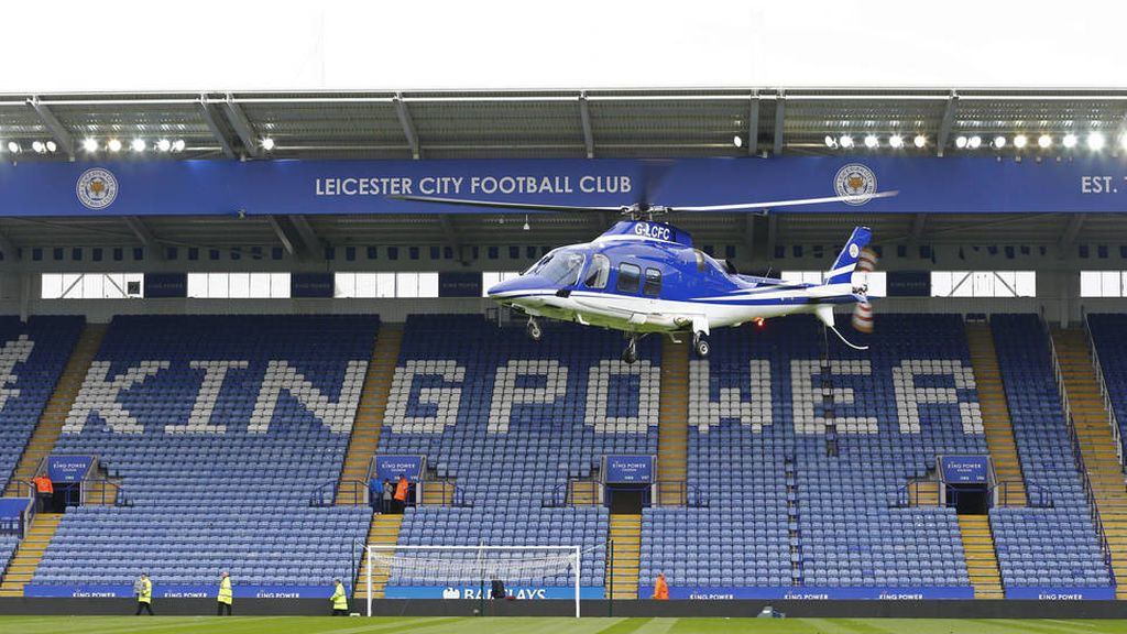Se estrella el helicóptero del dueño del Leicester a las afueras del estadio