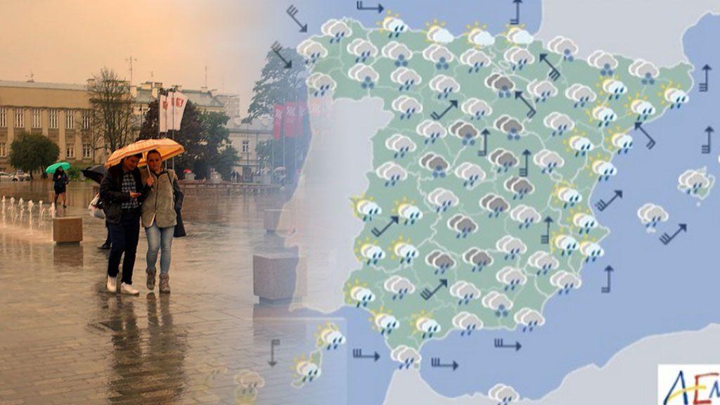 Este martes llega un nuevo frente atlántico que hará que llueva de manera generalizada
