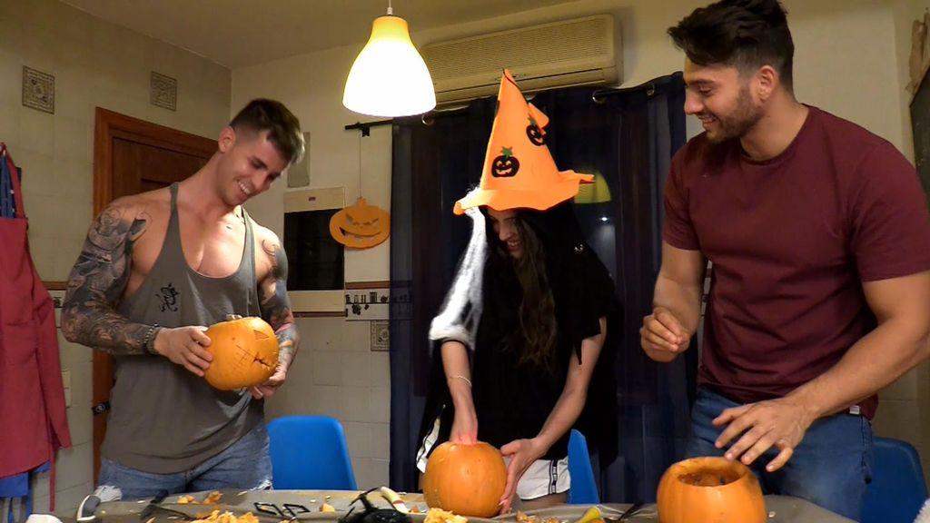 Los tronistas ultiman los detalles para la fiesta de Halloween