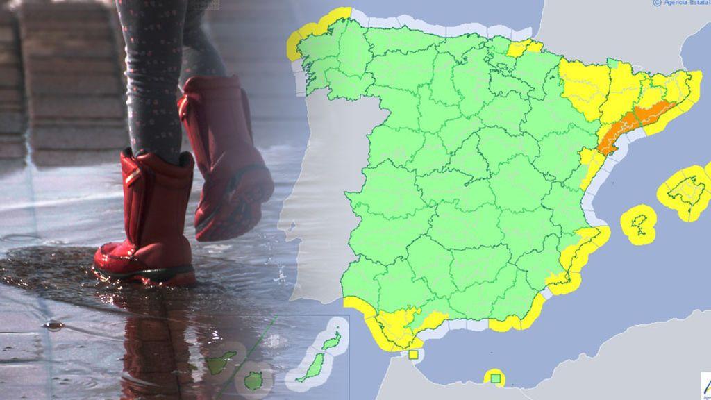 Tarragona y Barcelona en aviso naranja por intensas lluvias de hasta 40 l/m2 en una hora