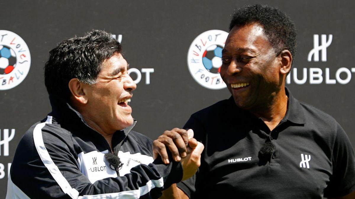 El vacile de Pelé a Maradona en el día de su cumpleaños