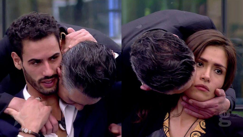Ángel besa a Asraf y a Miriam