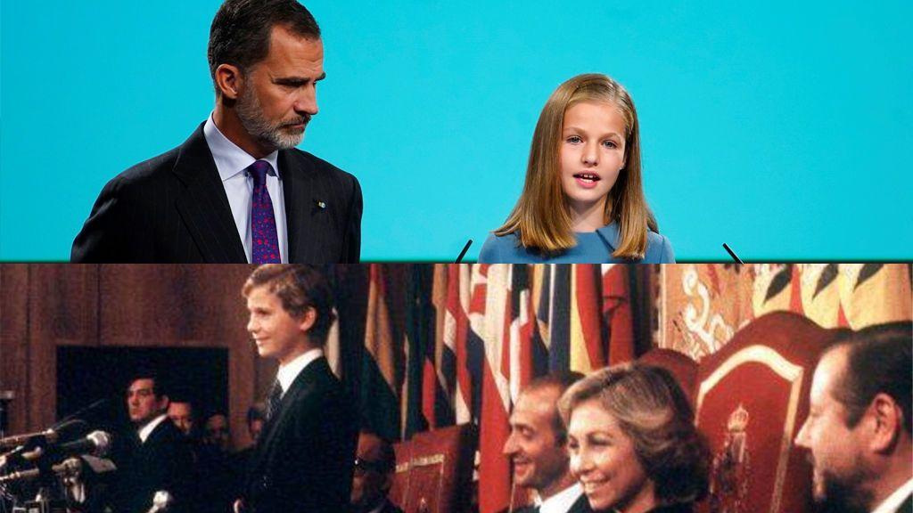 """De la """"voz nerviosa"""" de Felipe a la """"sonrisa empática"""" de Leonor: así analiza un experto sus primeros discursos"""