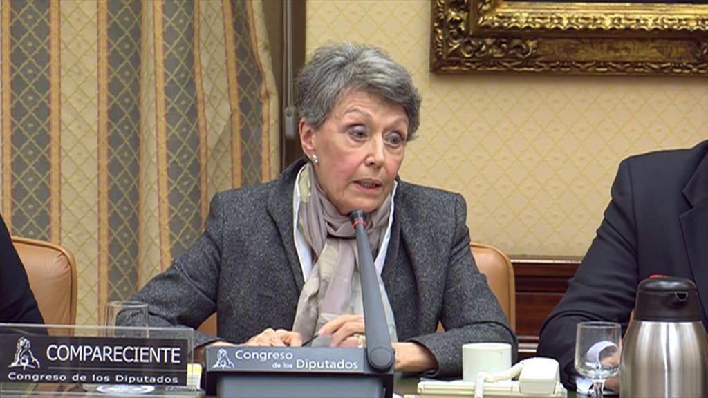 Rosa María Mateo,  administradora única provisional de RTVE, en la Comisión Mixta de Control Parlamentario de la Corporación RTVE y sus Sociedades.