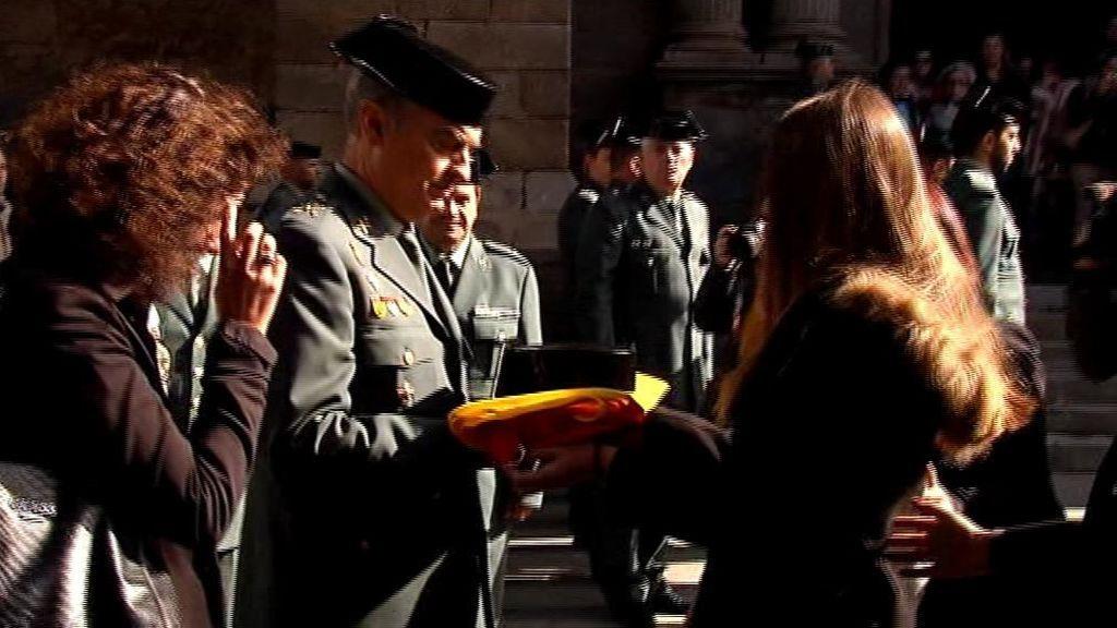 Don Benito despide a su vecino, el Guardia Civil Juan Francisco Lozano, en su funeral