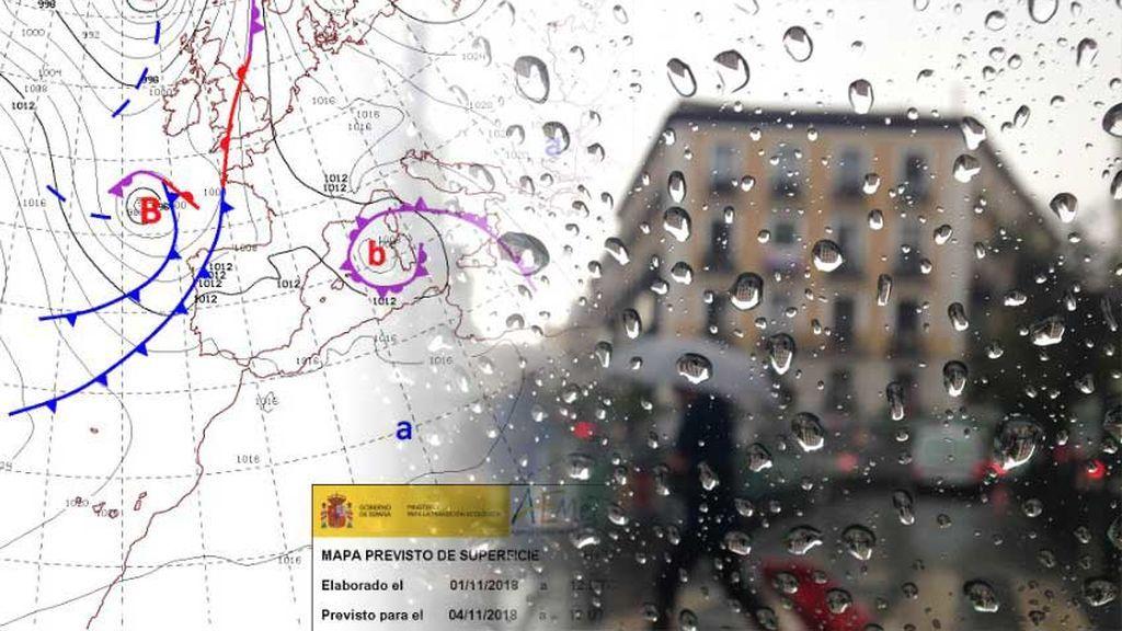 Tren de frentes toda la semana que viene: volvemos a los días lluviosos, grises y fríos