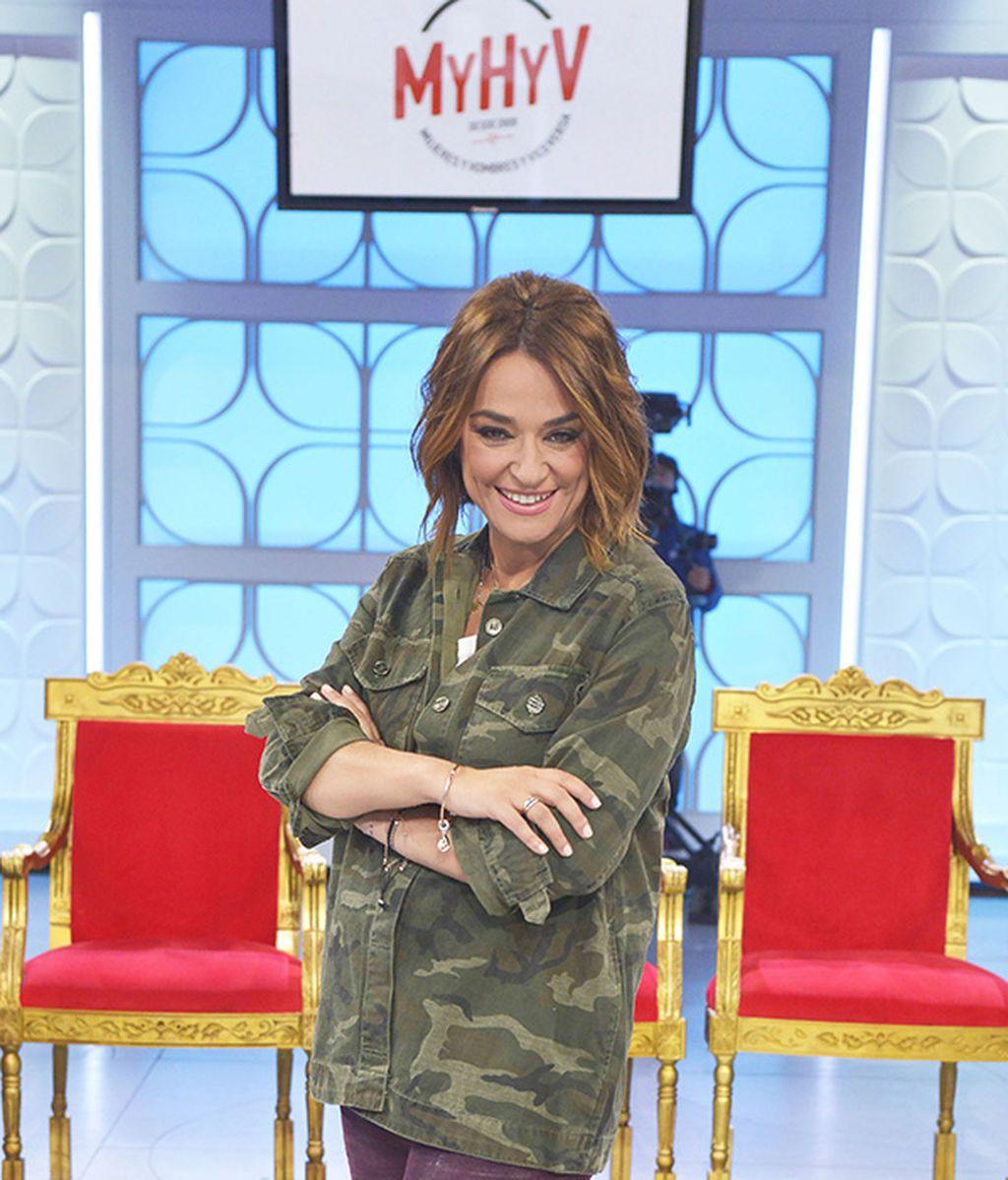 Toñi Moreno, junto al trono de MYHYV