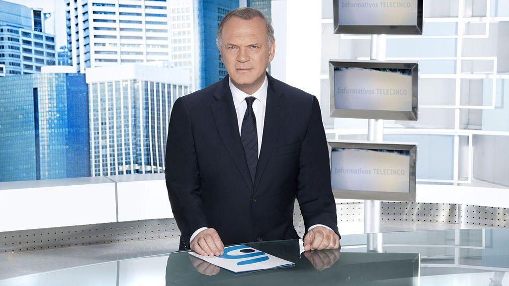 Pedro Piqueras, presentador de la edición de 'prime time' de Informativos Telecinco.