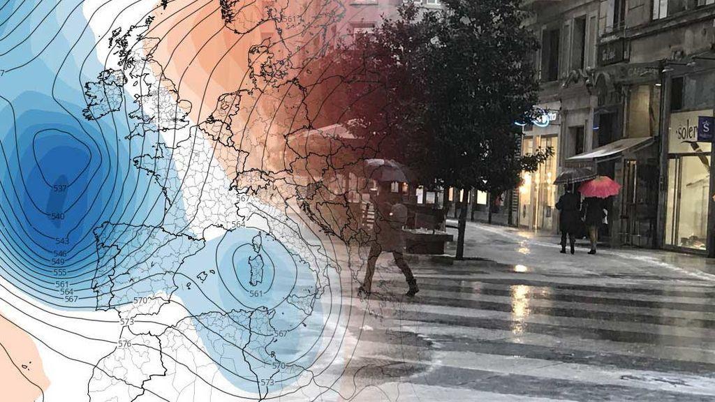 Una vaguada, 'hija' de un huracán, va a traer lluvias intensas en todo el país a partir del lunes
