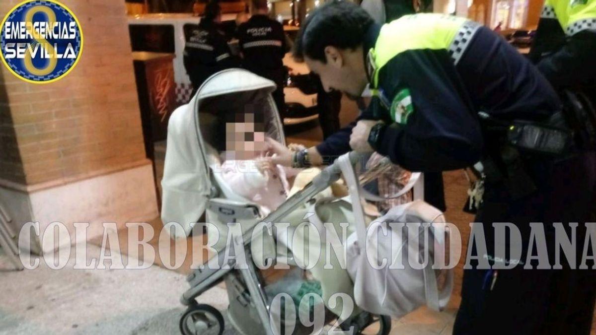 La policía de Sevilla pide colaboración ciudadana para localizar a los padres de una bebé que olvidaron en un bar