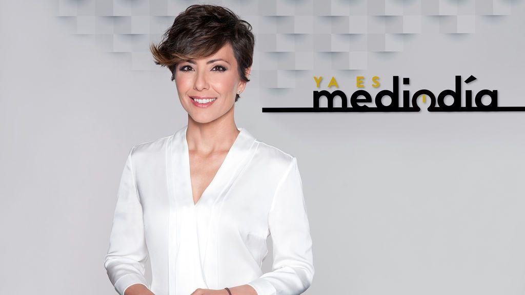 Sonsoles Ónega, presentadora de 'Ya es mediodía' en Telecinco.