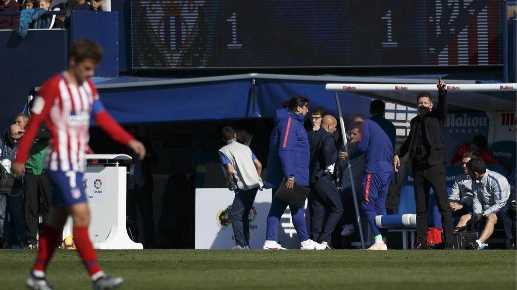 El Atlético de Madrid no puede con el Leganés (1-1)