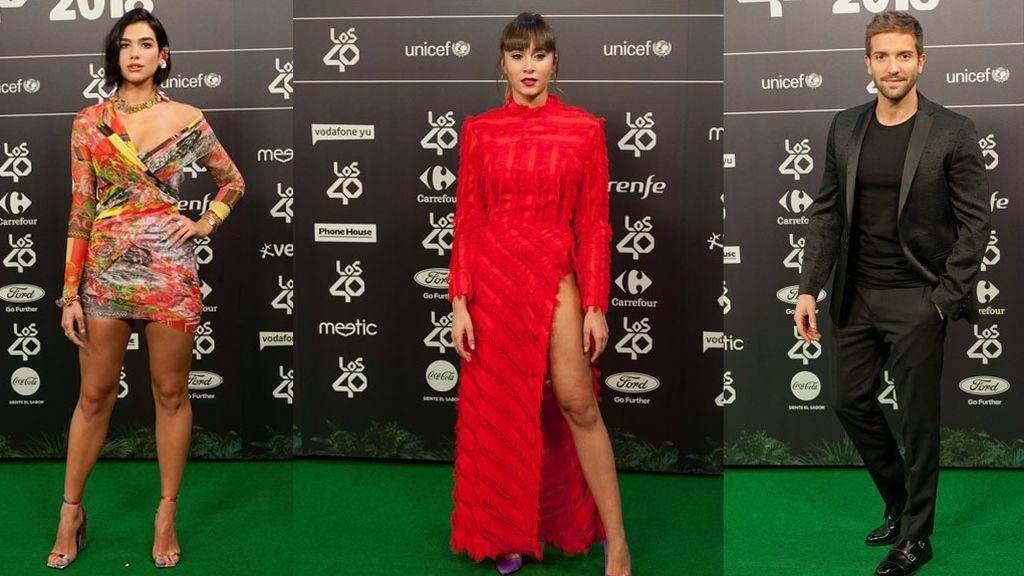 Dua Lipa, Aitana, Pablo Alborán: Los looks de los ganadores de Los 40 Music Awards