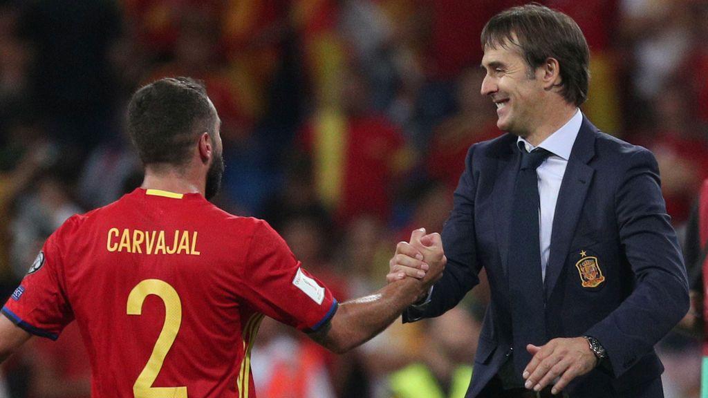 """Dani Carvajal sobre Lopetegui: """"Es el mejor entrenador que he tenido"""""""