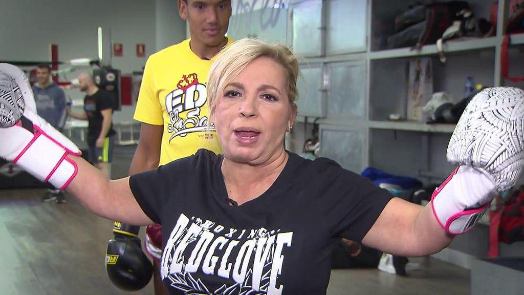Carmen Borrego se salta la dieta y recibe un 'gancho' de su entrenador