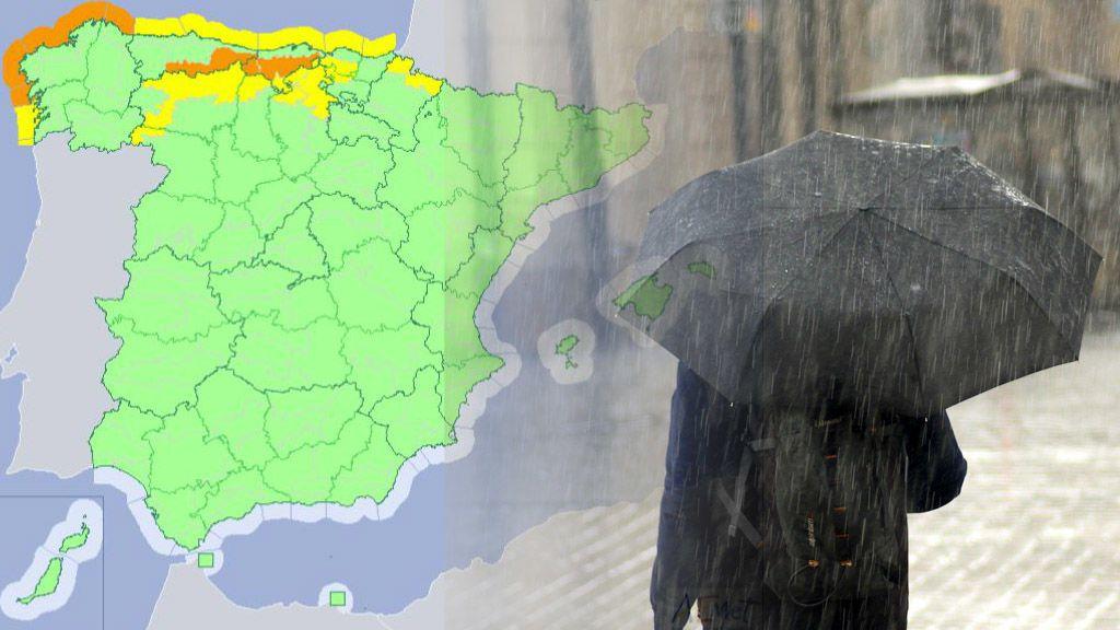 Este miércoles, avisos naranjas y amarillos en 13 provincias que traen como protagonistas oleaje y viento