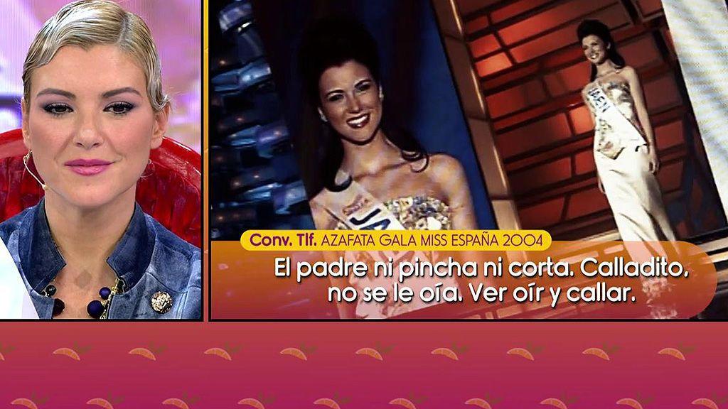 Una azafata de la gala Miss España 2004 siembra la duda hablando de 'claveles' en habitaciones