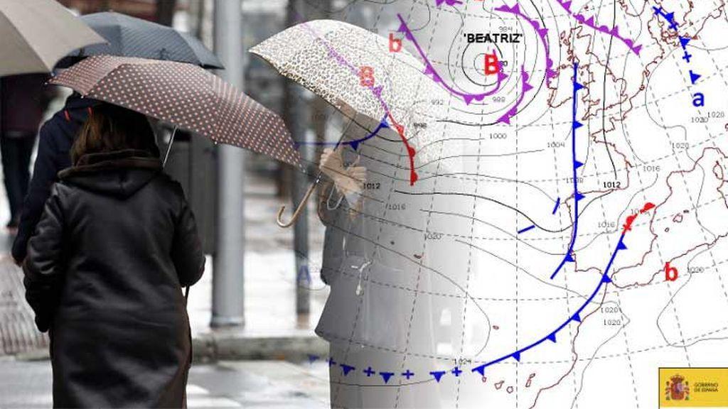 La borrasca Beatriz no ha dicho su última palabra: precaución con las lluvias y tormentas el jueves