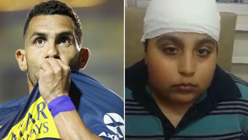 Un niño de 10 años, a punto de quedarse ciego por un tumor cerebral, sueña con conocer a Tévez