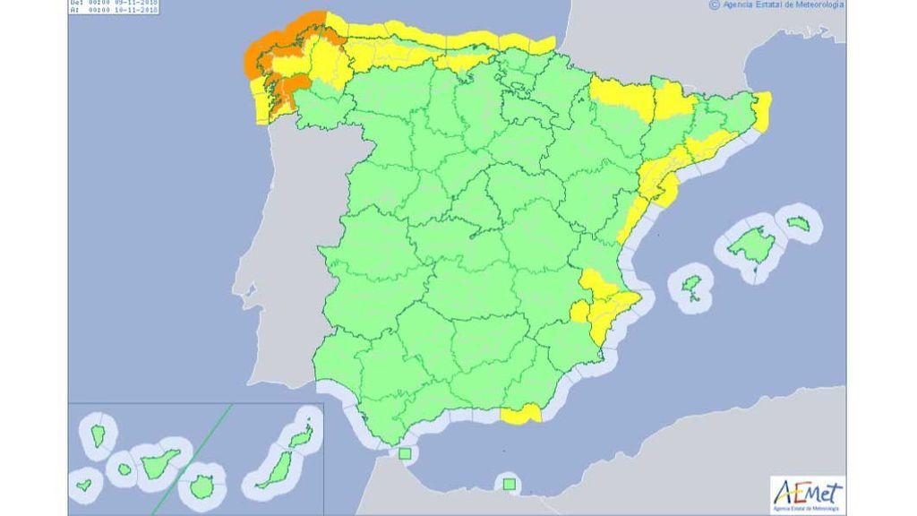 avisos viernes España
