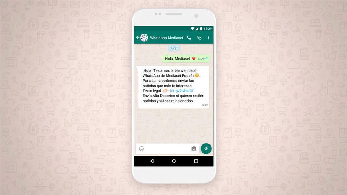 Ya puedes recibir en tu WhatsApp las noticias y vídeos de Deportes Cuatro