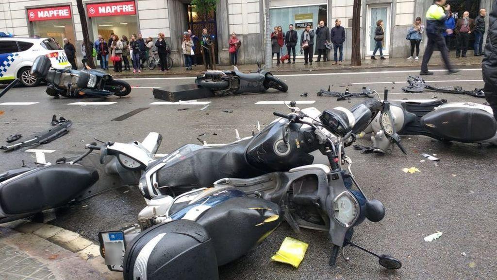 Atropello múltiple en Barcelona: el conductor sufrió un desvanecimiento al volante