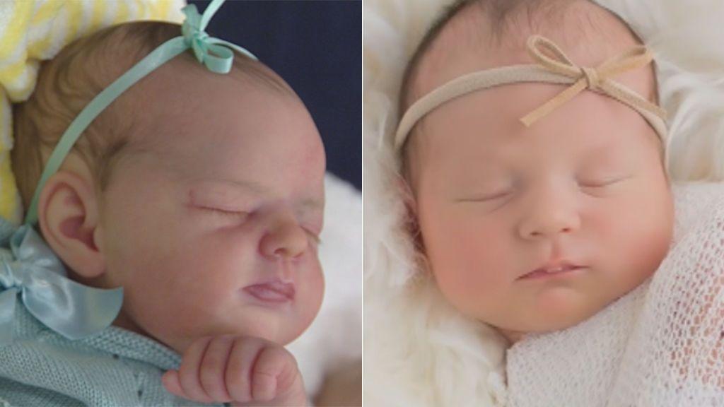 Uno de estos bebés no es real, ¿cuál?