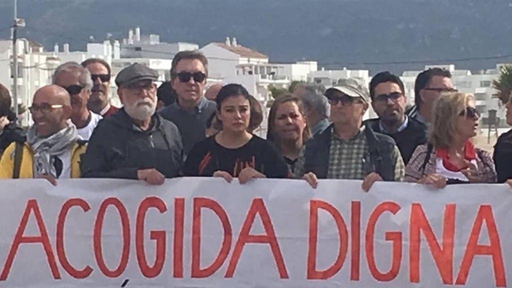 Los vecinos de Barbate protestan por las muertes de los inmigrantes en el estrecho