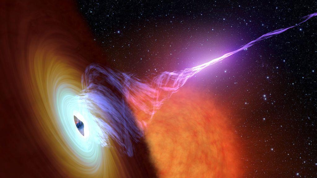 Descubren agujero negro capaz de hacer girar el espacio-tiempo