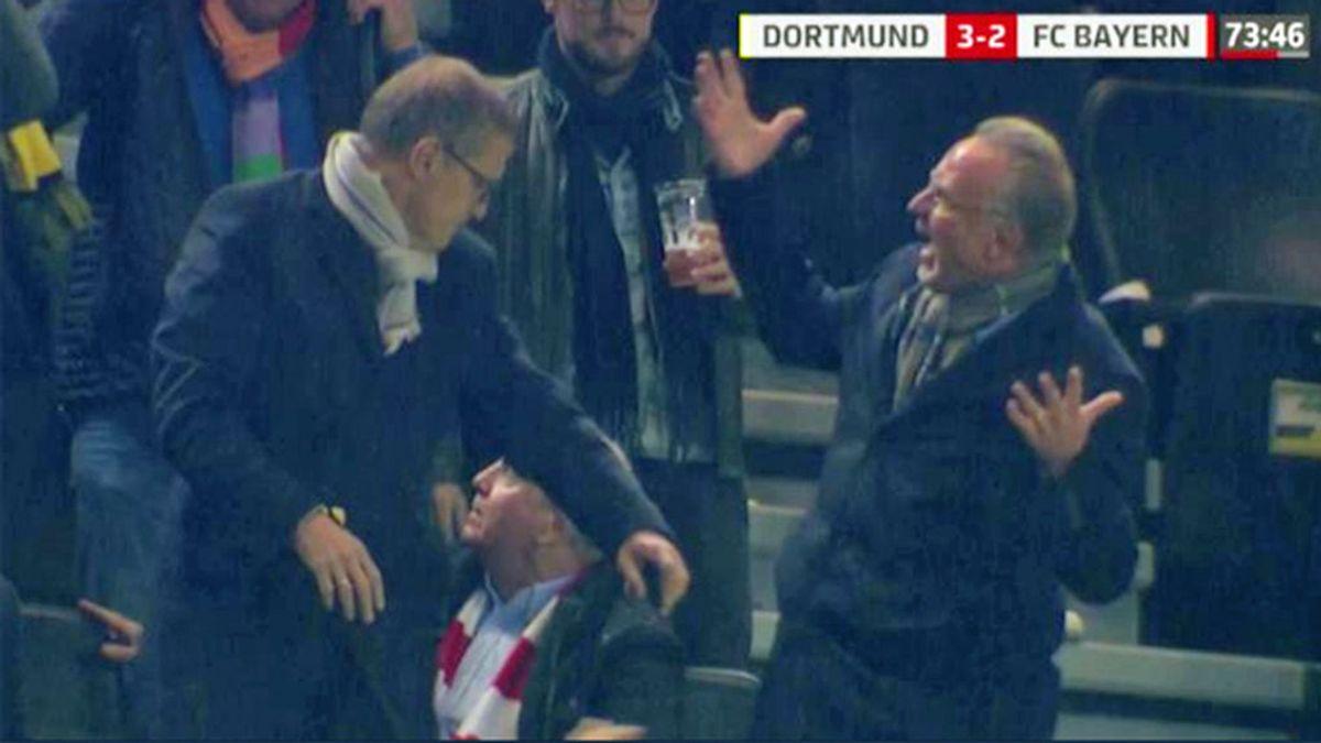 El 'mosqueo' de la directiva del Bayern tras ser 'duchada' en cerveza tras el gol de Paco Alcácer