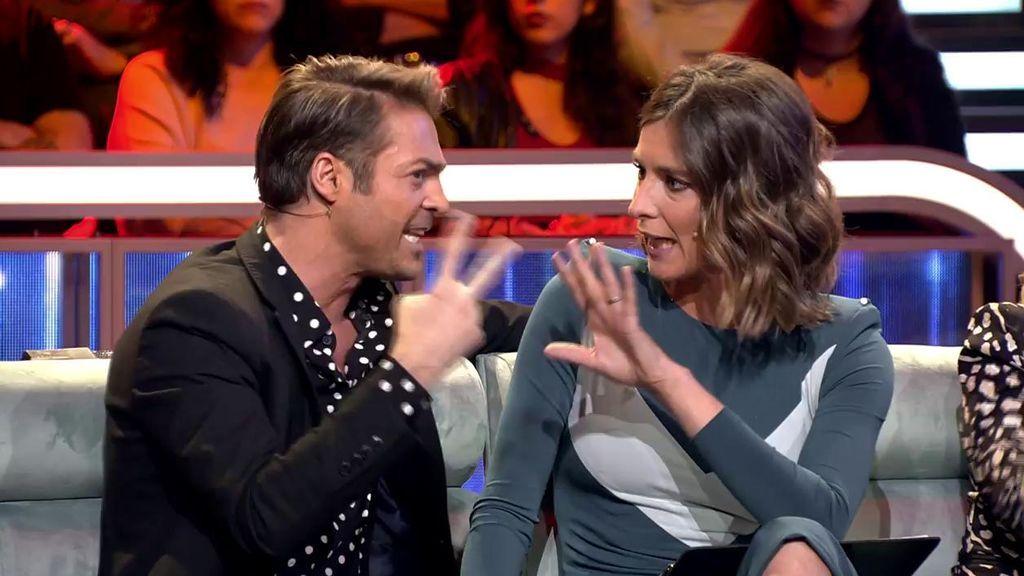 """La regañina de Sandra Barneda a Hugo Castejón: """"¡No te consiento que digas eso!"""""""