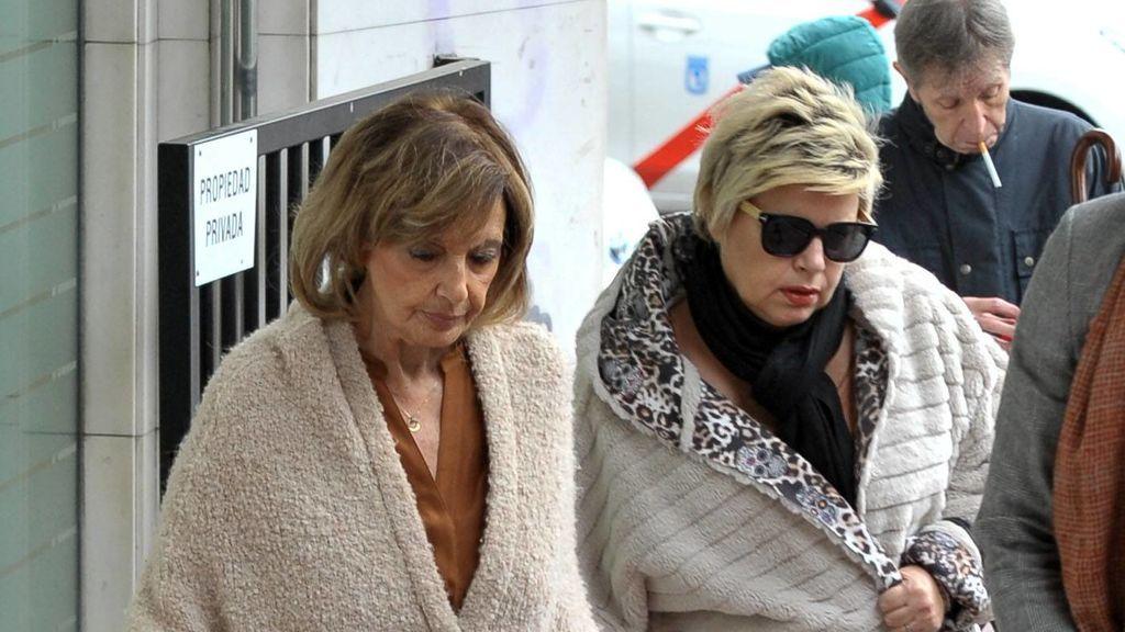 Terelu Campos acude a una nueva revisión de su operación acompañada de su madre