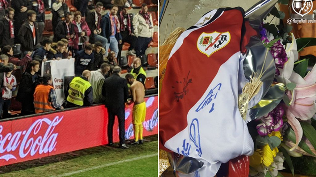 El sentido gesto de Santi Cazorla con Jorge Muñoz, un aficionado de 14 años del Rayo fallecido por un atropello esta semana