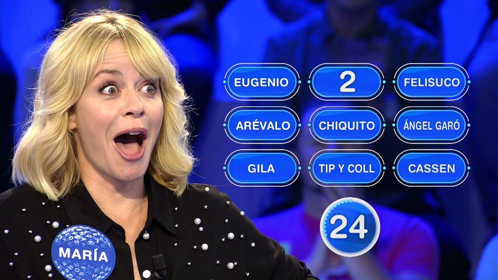 María Adánez localiza todas las palabras de la prueba y se pone a llorar de la emoción