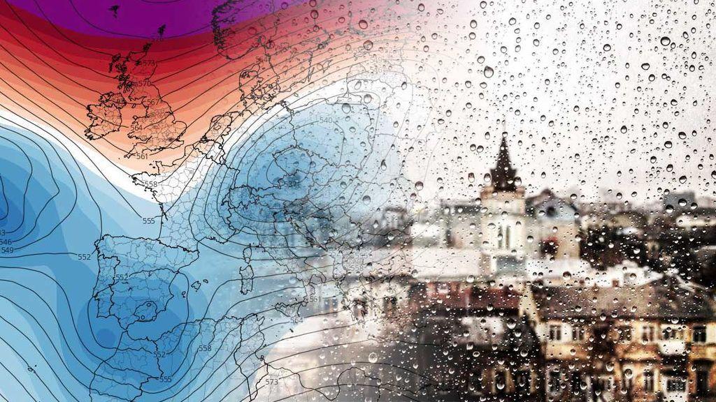 Un anticiclón 'rombo' traerá un tren de borrascas a España a partir de la semana que viene