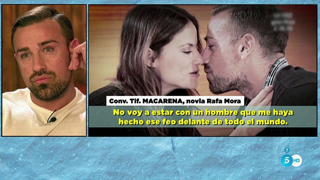 "La novia de Rafa Mora, muy enfadada: ""Si en una semana se besa con otra, imagínate"""