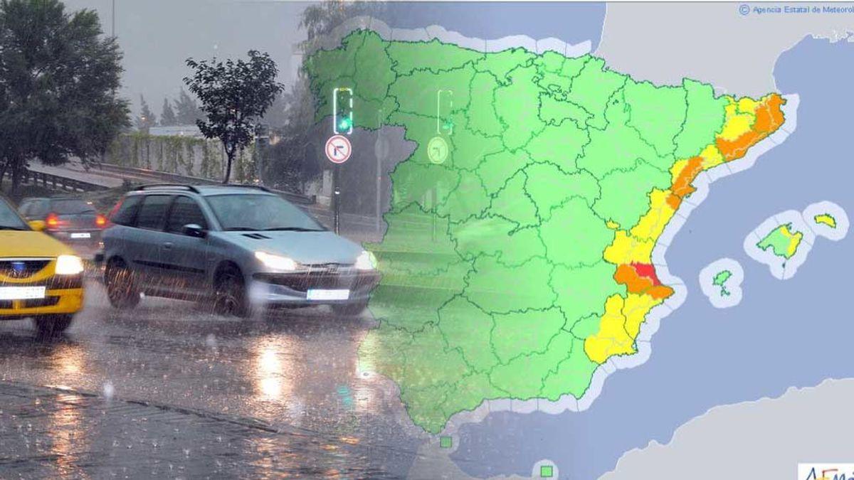 Las lluvias más intensas de la semana dejan avisos en todo el Mediterráneo