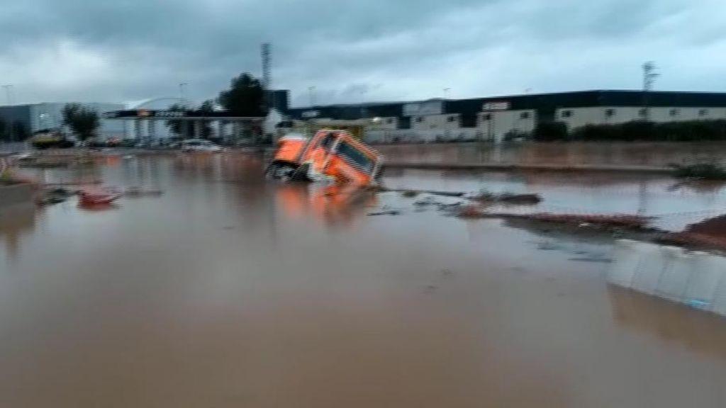 Alzira se inunda en pocas horas