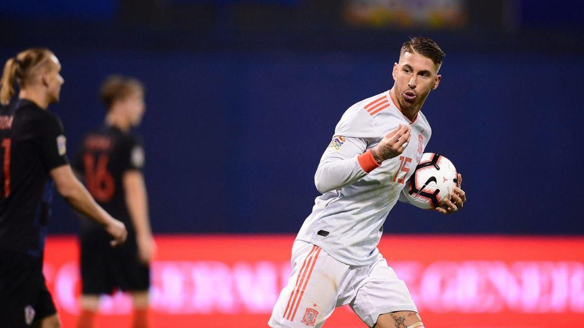 Sergio Ramos, cuarto gol consecutivo con España pero lesión  muscular: abandona la concentración de La Roja